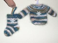 sweater & stocking ornament