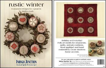 Rustic winter ornaments