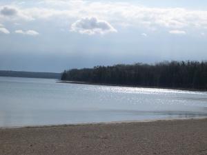 the beach at Nicolet Bay