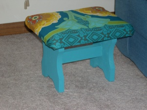 Covered footstool
