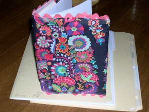 Notebook Cover in Kaffe's Paisley Fabric