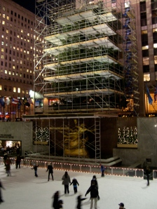 famous Christmas tree at Rockefeller Center