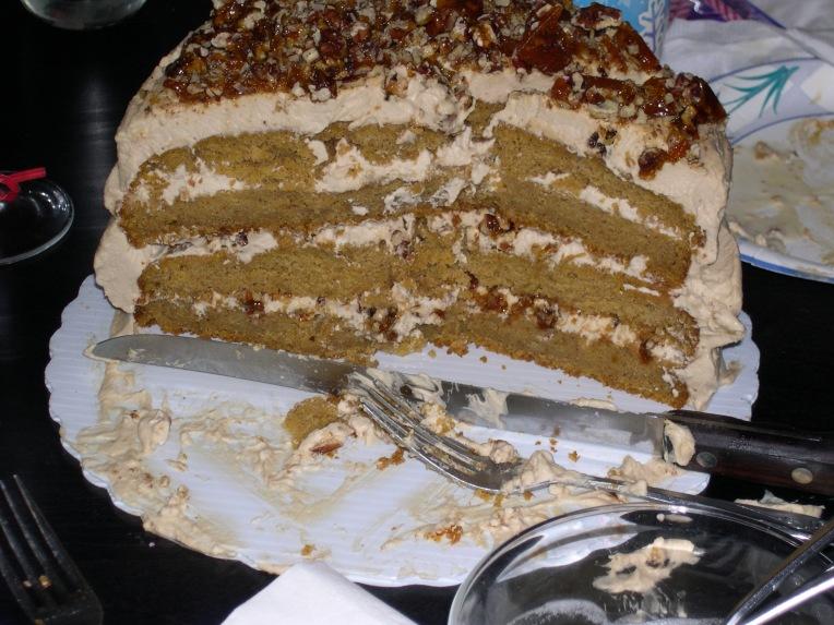 mmm - pumpkin praline cake!