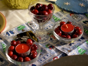 cranberry decorations