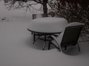snowed-in patio table