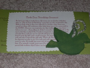 Turtle Dove Ornament