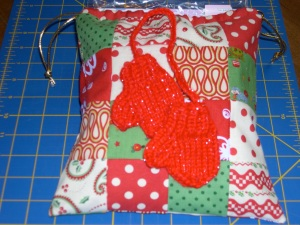 patchwork drawstring bags