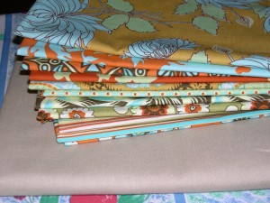 Amy Butler's Belle fabrics for a tablerunner