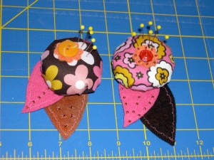 Chocolate Lollipop Pin cushions