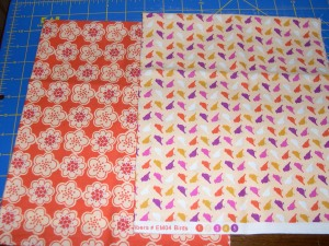 orange fabrics in stash