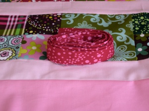 binding for candy quilt