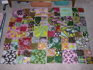 layout of chocolate lollipop quilt