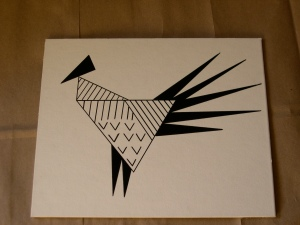 Rooster Shape Drawing