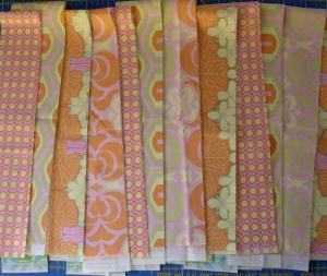 Orange Dahlia patchwork