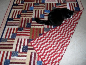 Flag Quilt Backing