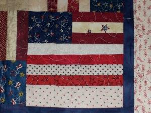 Second block of Flag Quilt