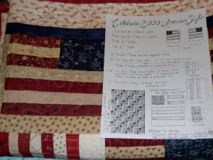 Celebrate America 2000 Quilt Directions