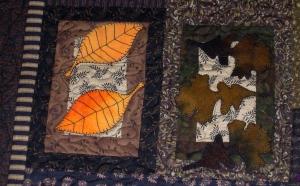 Birch and Oak Leaves Block