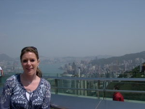 Me at the top of The Peak in Hong Kong