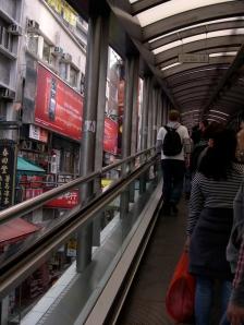 The Escalators in Central, Hong Kong