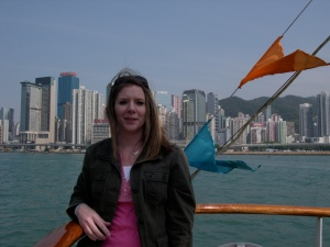 Me on the ferry tour of Victoria Harbor