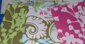 matching fabrics for market tote