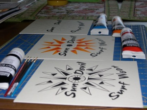 logo designs in progress