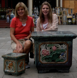my mom and I in China