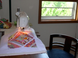 quilting my string pieced mini