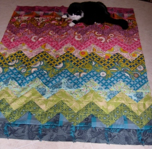 Angel on my zig-zag quilt
