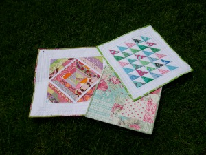 my three new mini quilts!