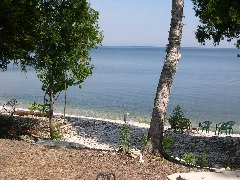 the beach in Door County