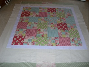 basted Darla quilt