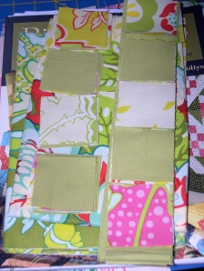 pieces for mini quilt