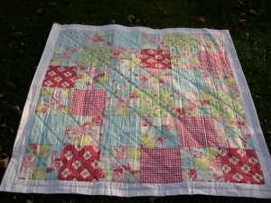 quilted Darla quilt top
