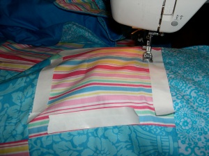 quilting the tablecloth