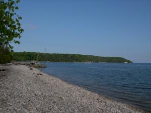 the beach in Garrett Bay