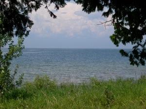 biking along the lakefront