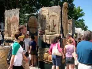 sculpture art at the art fair