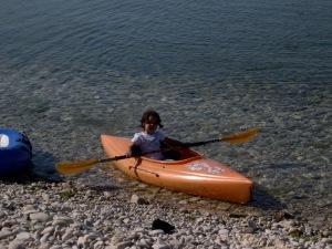 Amanda kayaking