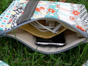 Inside of Techie Bag in Hello Betty