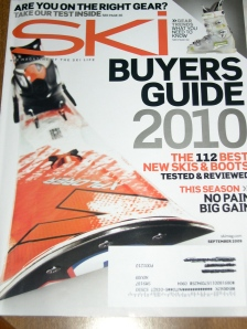Sept issue of Ski magazine