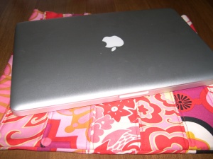 new laptop on patchwork