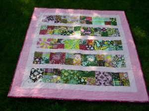 candy quilt in the grass