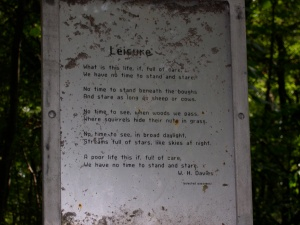 leisure poem on the trail