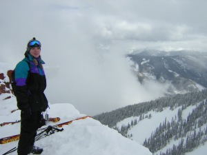 Terri on Highland Bowl