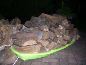 sledding firewood