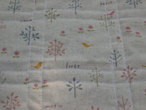 Linen backing fabric