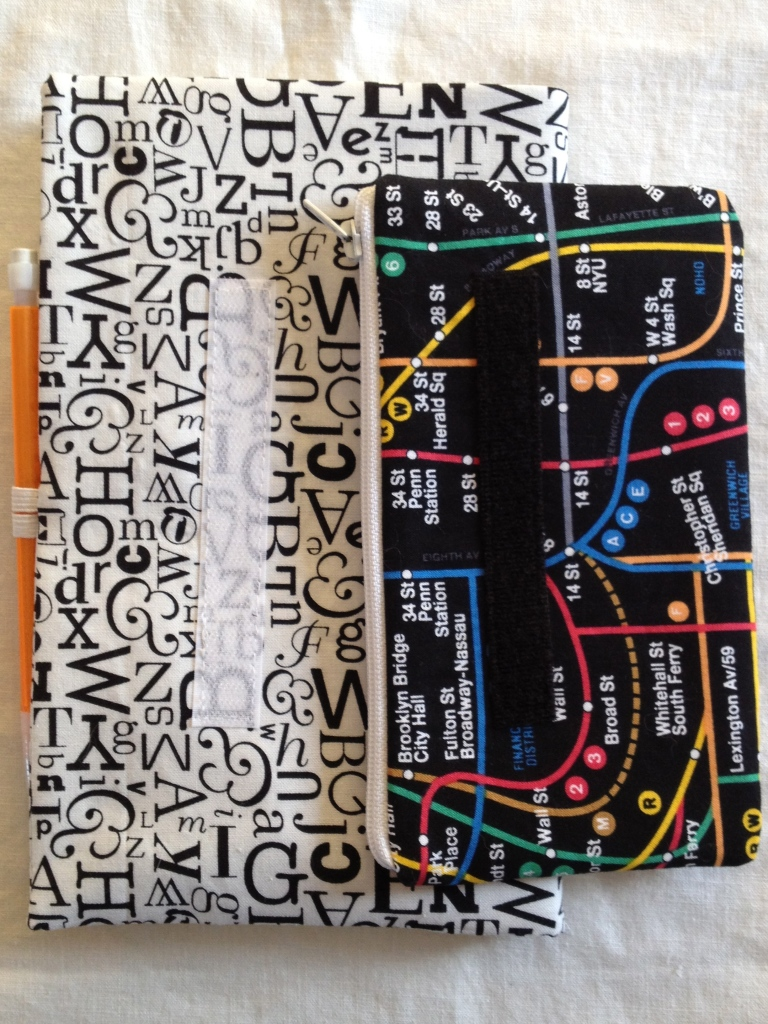 typography cover and zip pouch