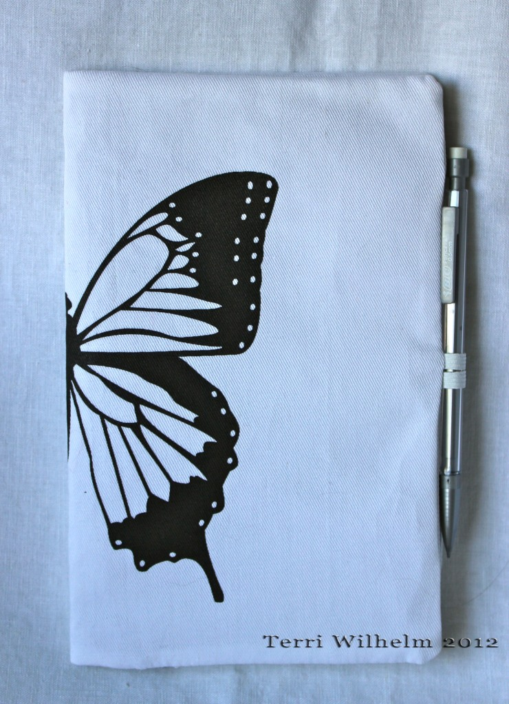 butterfly sketchbook cover